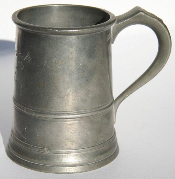 48: Antique Pewter Tankard