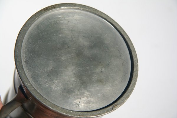 48: Antique Pewter Tankard - 4