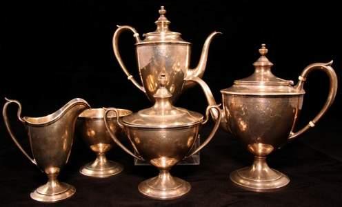 6: Sterling Five Piece Tea Set