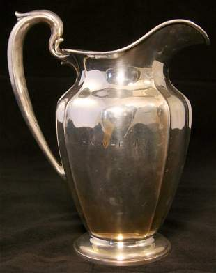 Large Dominick & Haff Sterling Pitcher