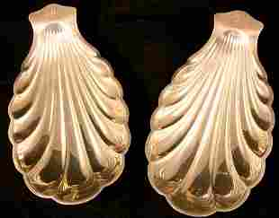 Two Gorham Sterling Shell Dishes