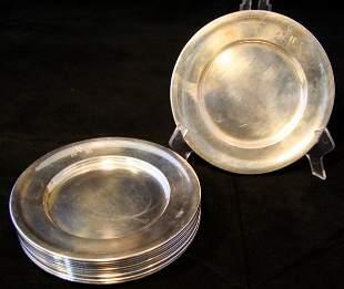 Twelve Sterling Plates