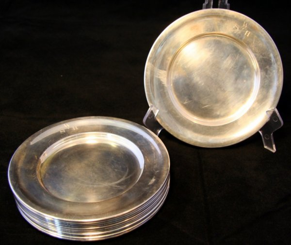 11: Twelve Sterling Plates
