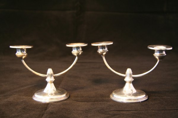16: Pair Sterling Silver Candlesticks