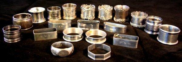 21: Group Twenty Sterling Napkin Rings