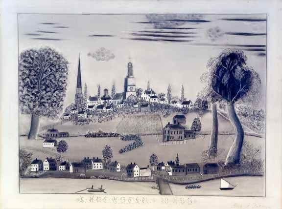 4: Folk Art Sandpaper Drawing c.1840