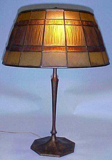 11: Tiffany Studios Linenfold Lamp