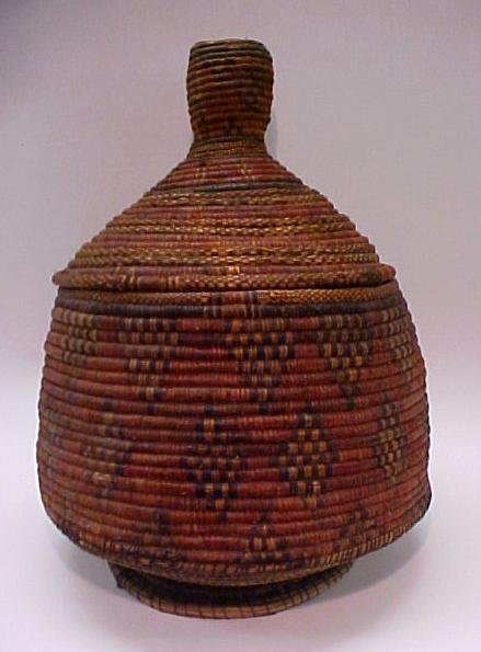 18: American Indian Covered Coiled Basket