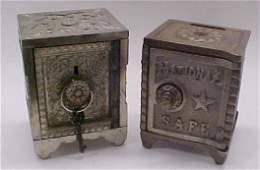 97 Two Cast Iron Safe Banks