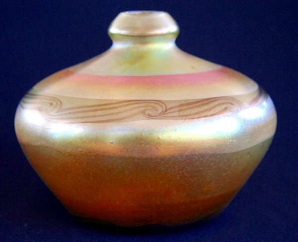 1A: Tiffany Studios Art Glass Vase