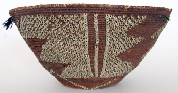 14B: Early and Large Pomo or Ohlone Indian Basket