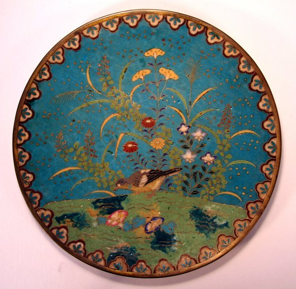 14E: Early Cloisonné Plate