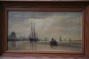 Archibald Cary Smith 1839-1911 Marine Oil on Canvas