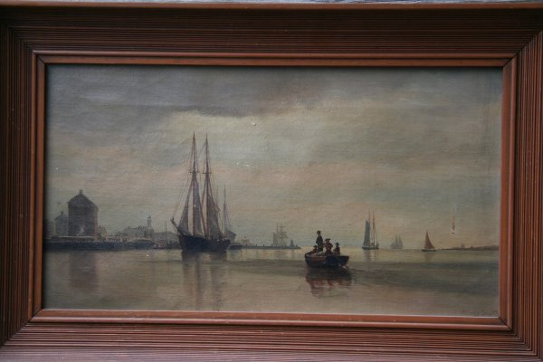 4: Archibald Cary Smith 1839-1911 Marine Oil on Canvas