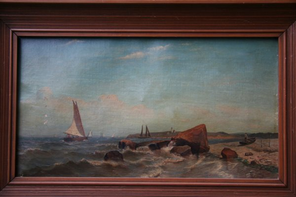 5: Archibald Cary Smith 1839-1911 Marine Oil on Canvas