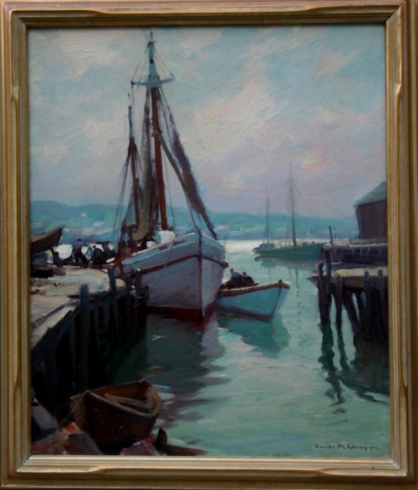 7: Emile Gruppe 1896-1978 Marine Oil on Canvas