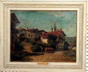 F.A. Bridgman Oil on Canvas