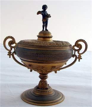 Beautiful Bronze Dore Covered Chalice