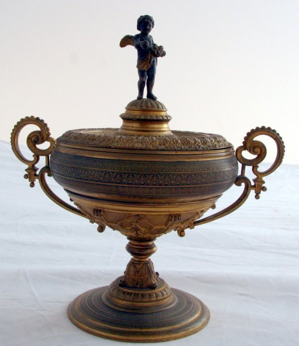 15: Beautiful Bronze Dore Covered Chalice