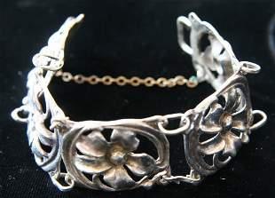 Sterling Floral Bracelet
