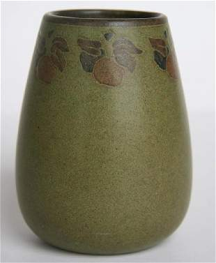 Marblehead Pottery Decorated Vase