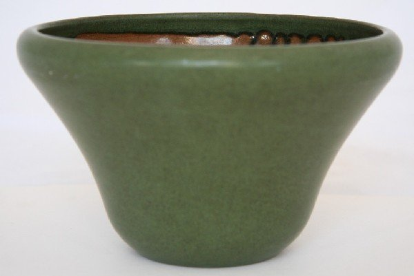 3: Marblehead Pottery Green Vase
