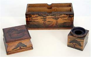 Arthur Grinnell Arts and Crafts Deskset