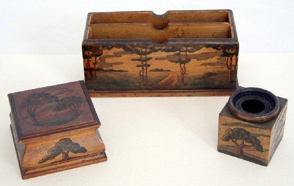 8A: Arthur Grinnell Arts and Crafts Deskset