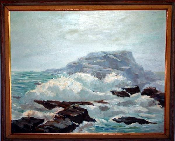 10: Joe De Thomas Seascape Oil