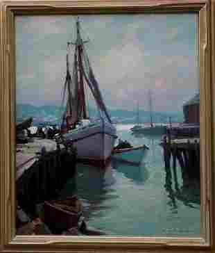 Emile Gruppe oil on canvas