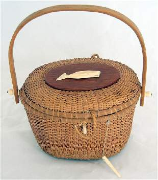 Nantucket Basket with Whale