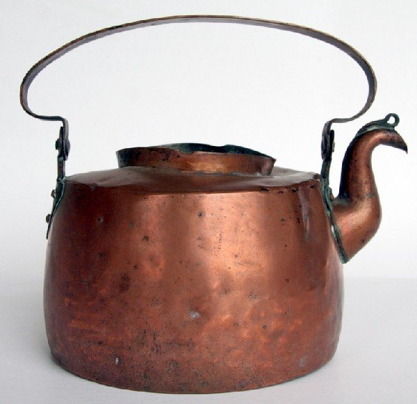 16: Early & Original Paul Revere Copper Teakettle
