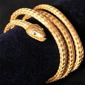 20: Tiffany & Co. 19th Century Gold Snake Bracelet