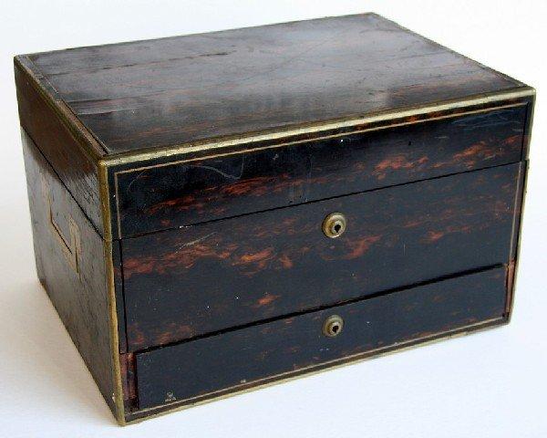 21: Rare Joseph Bramah Writing & Valuables Box