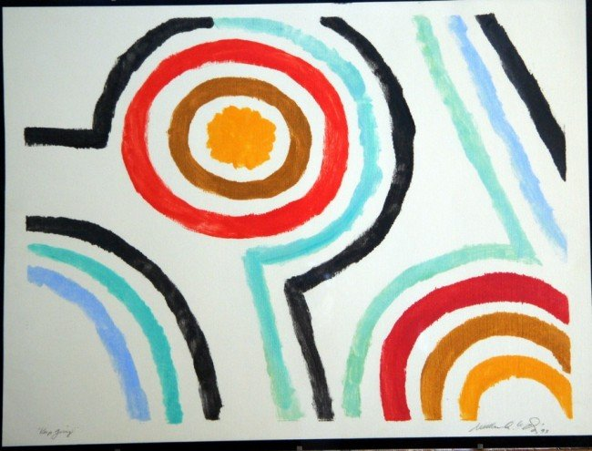 18: Signed Color Abstract