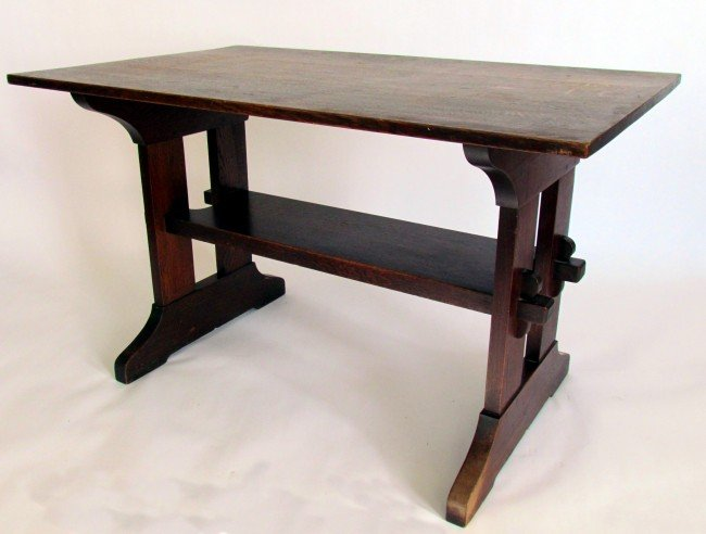 3: Gustav Stickley Library Table