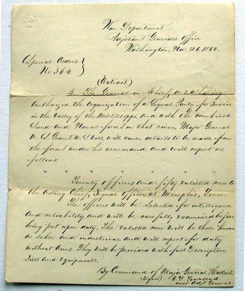 7: Group Civil War Special Order War Department Letters