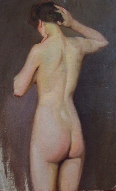 9: Eric (Frederick) Pape (1870-1938) Oil on Canvas