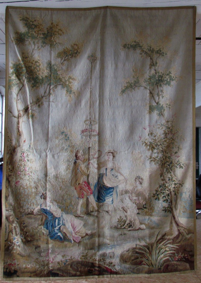 2A: 18th Century French Aubusson Royal Tapestry