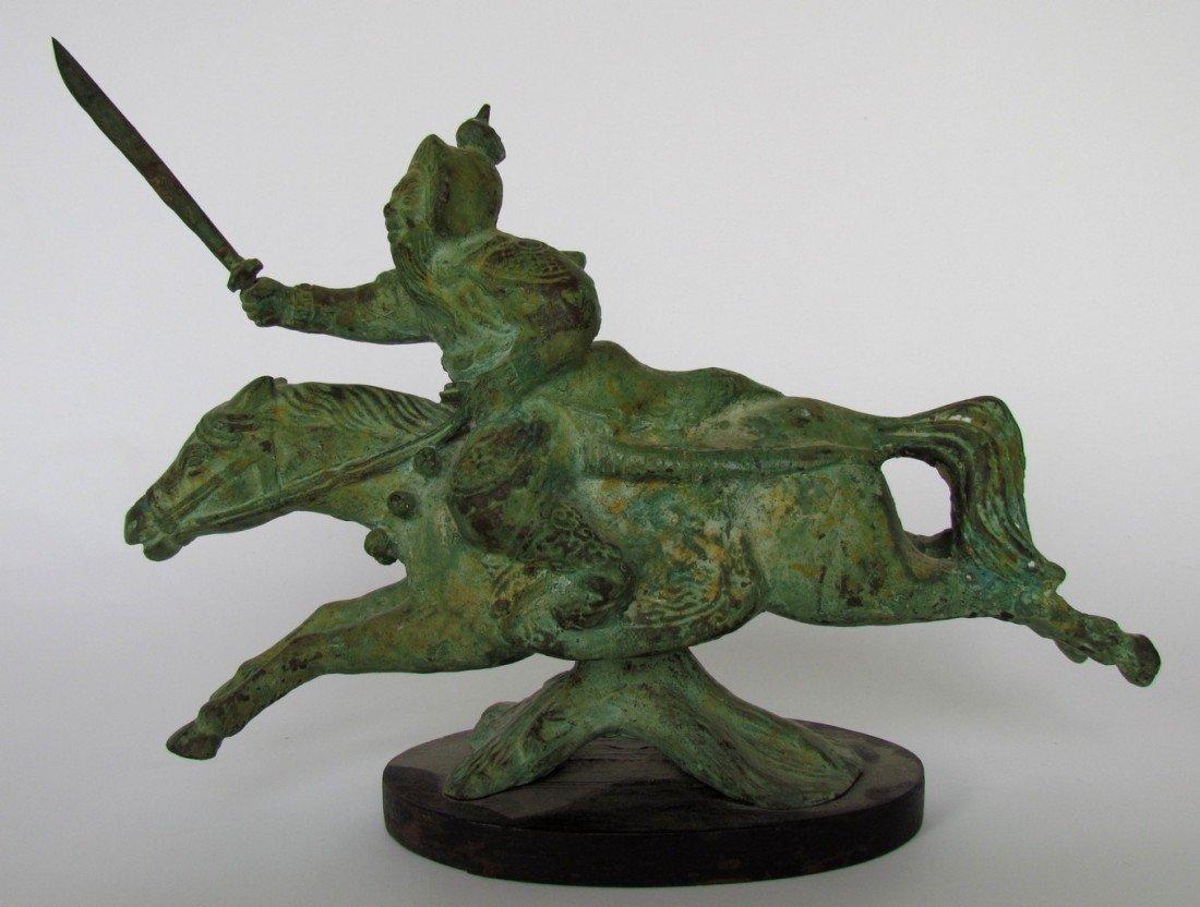 4: Asian Bronze Warrior Horse
