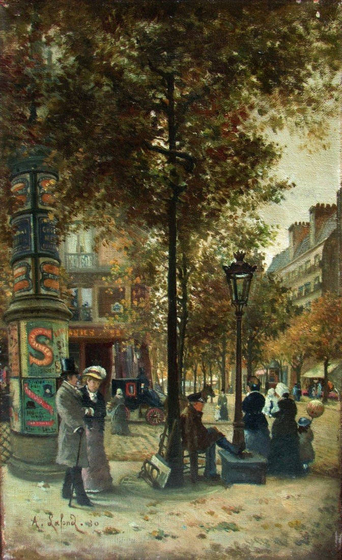 9: A. Lafond French Impressionist Painting Dated 1880
