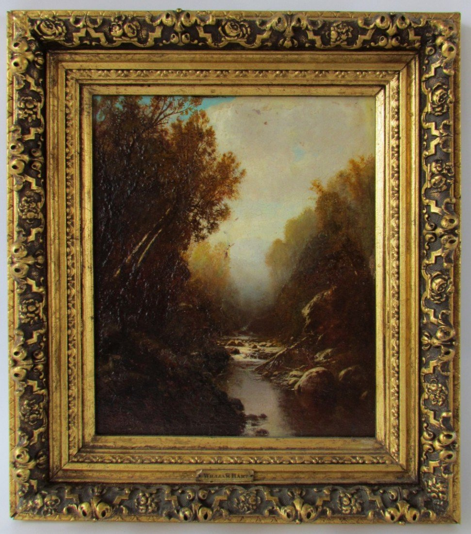 10: William Hart (1823-1894) Oil on Board