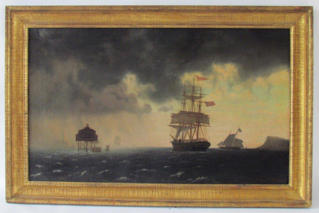 11: John Erik Christian Petersen (1839-1874) oil Boston