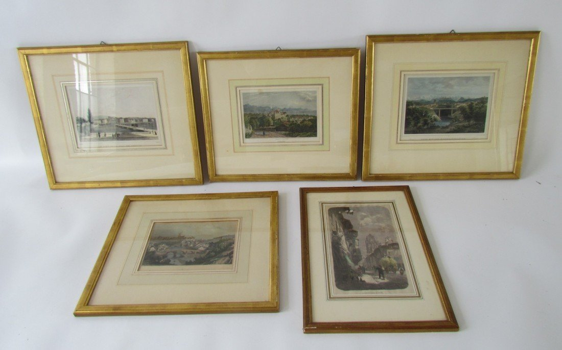 20: Group Five Framed 19th Century Engravings