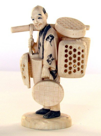 2: 19th Century Carved Oriental  Ivory