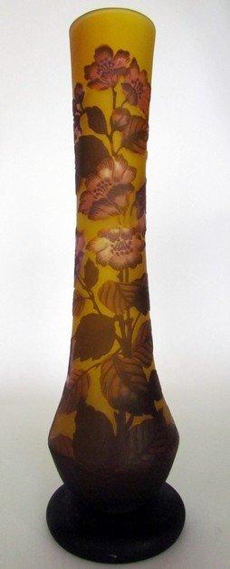 10: Large Galle Art Glass Floral Vase
