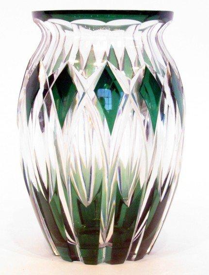 19: Val St. Lambert Cut Glass Vase