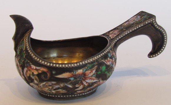 40: Russian Enamel and Silver Server