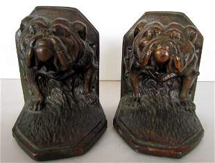 Jennings Brothers Bulldog Bookends