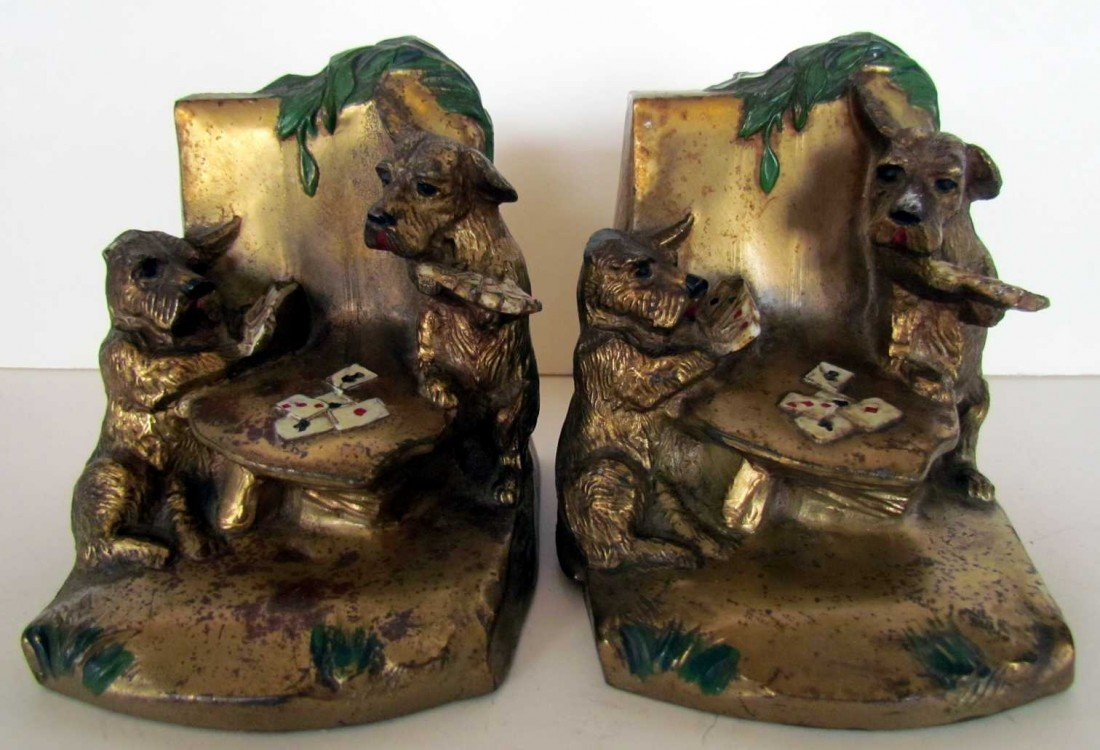 15: Scottie Dogs Playing Poker Bookends